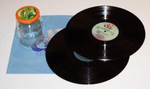Schallplatten Blumentopf