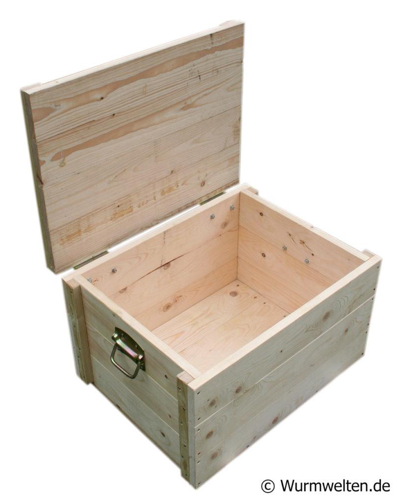 Wurmtruhe Wurmkiste aus Holz