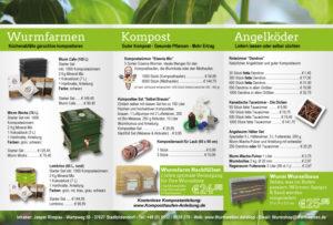 Wurmwelten Preis Katalog Innenseite