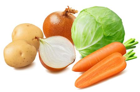 Kartoffeln, Zwiebeln, Kohl und Karotten gelten als einfaches Gemüse