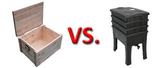 Wurmkiste vs. Wurmfarm / Holz vs. Kunststoff: Ein Vergleich