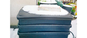 Wurmkiste im Schnee